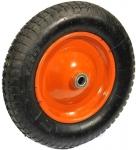 Запасное колесо (литое вулканизированное) 345х20 мм для тачек HB 1102, HB 1302, PRORAB, 13008