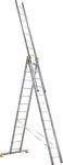 Лестница трехсекционная усиленная профессиональная 3х18 (514/939/1352 см, 48,8 кг), АЛЮМЕТ, 9318