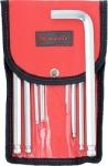 Набор ключей имбусовых HEX, 1,5–12 мм, CrV, 10 шт., удлиненные с шаром, сатин., чехол, MATRIX, 12311