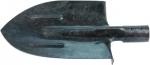 Лопата штыковая, с ребрами жесткости,рельсовая сталь, без черенка, СИБРТЕХ, 61470